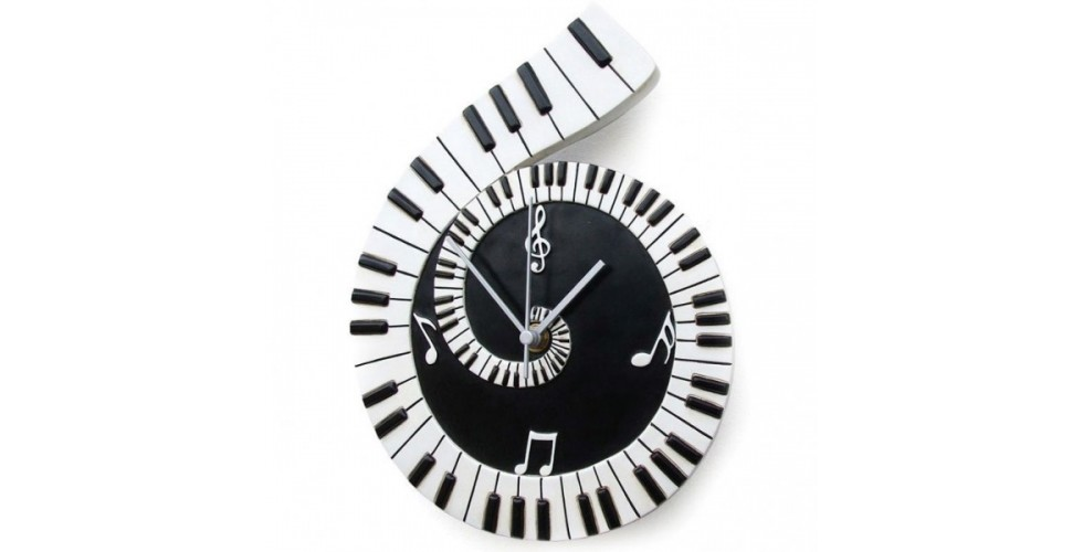 Piano Scroll Wall Clock
