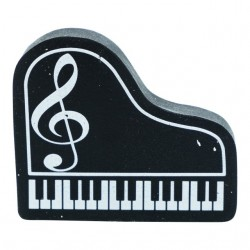 Piano Eraser Black