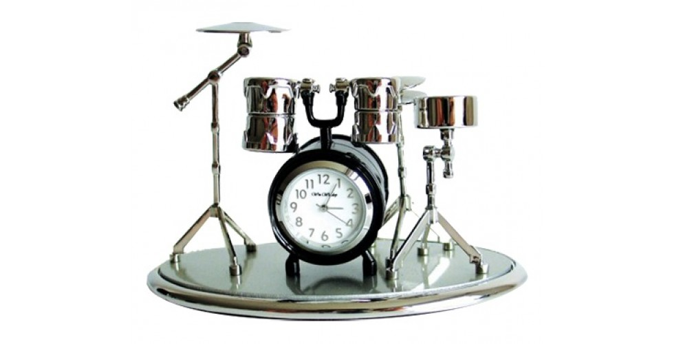 DRUM Set (on A Base) Miniature Clock