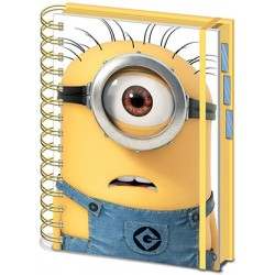 Minions A5 Project Book Shocked Minion