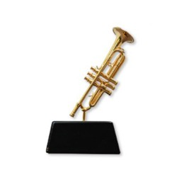 Miniature TRUMPET on stand Vienna World