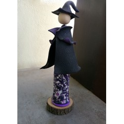 Matilda, witch in black coat
