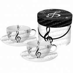 CAPPUCCINO Cup Set Gift Box I Love Music PPD