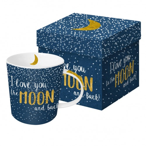 Trend mug gift box moon love real gold 0,35 l PPD