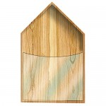 Wall Napkin Holder Natural Wood + FREE NAPKINS