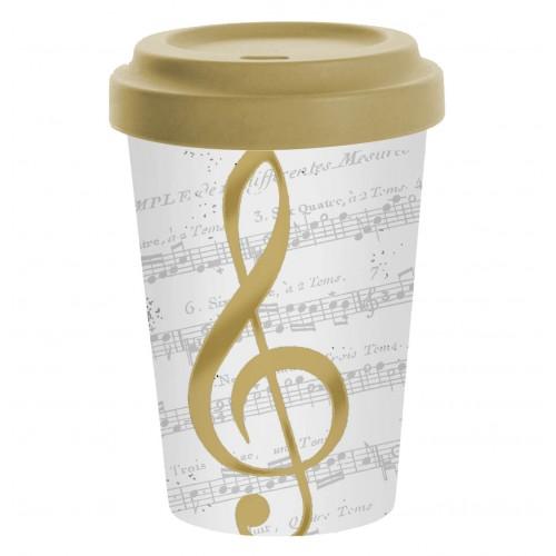 Eco Travel Mug Bamboo I Love Music