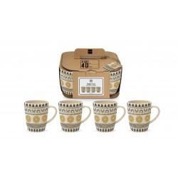 Ethno Style Bamboo Mug Set of 4 PPD