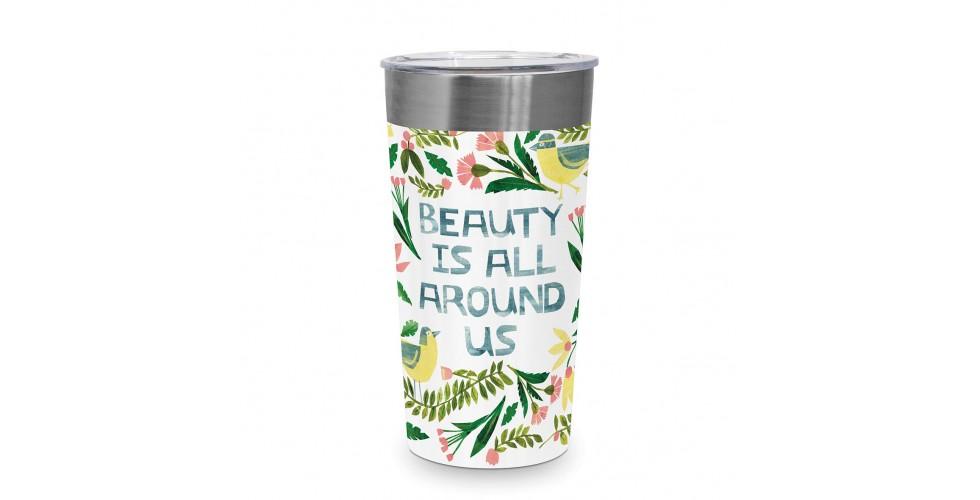 Beauty is around Steel Travel Mug PPD