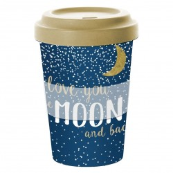 Eco Travel Mug Bamboo I Love You To The Moon & Back