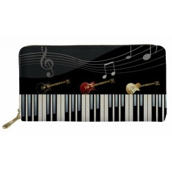 Guitars & Piano Long Women Wallet
