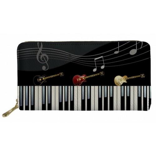 Guitars & Piano Long Women Wallet
