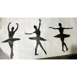Wall Stickers Ballerina Dancer 3 Silhouette DIY