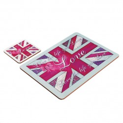Placemat & Coaster Set Love Life