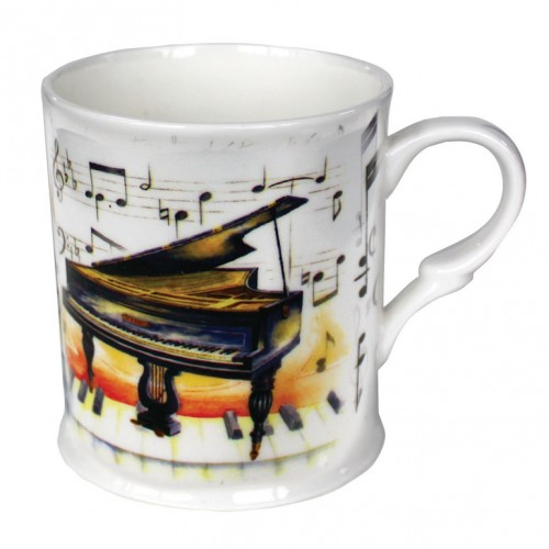 Fine China Mug Piano Design