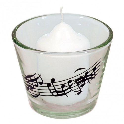 Candle In Note Glass
