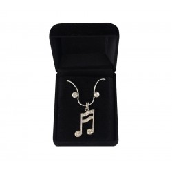 Necklace & Earrings Musical Note Semiquaver