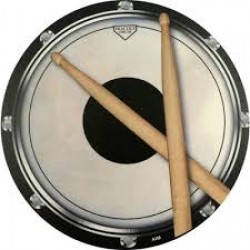 Mouse Mat: Drum Head And Sticks Design