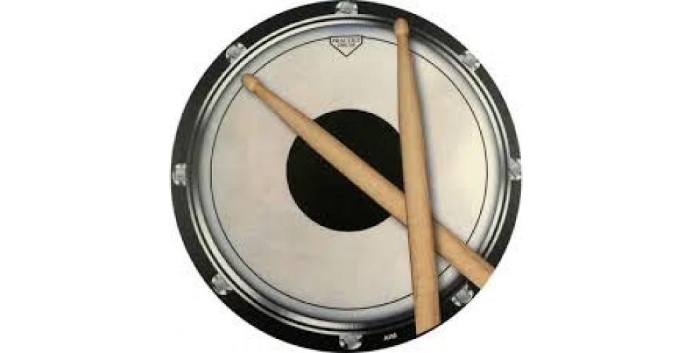 Mouse Mat: Drum Head And Sticks Design