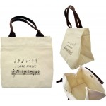 "Mini Cotton Tote Bag ""I Love Music"""