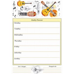 Weekly Planner Guitar A4