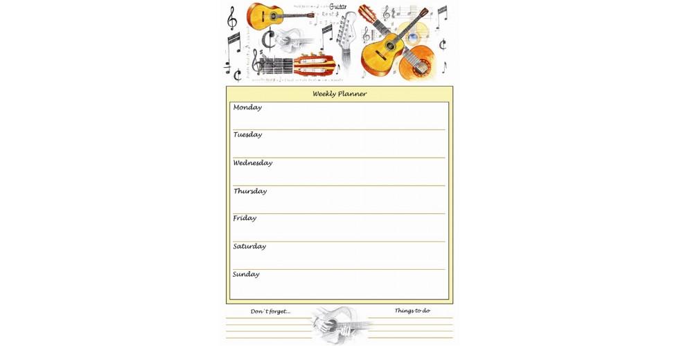 Weekly Planner Guitar A4