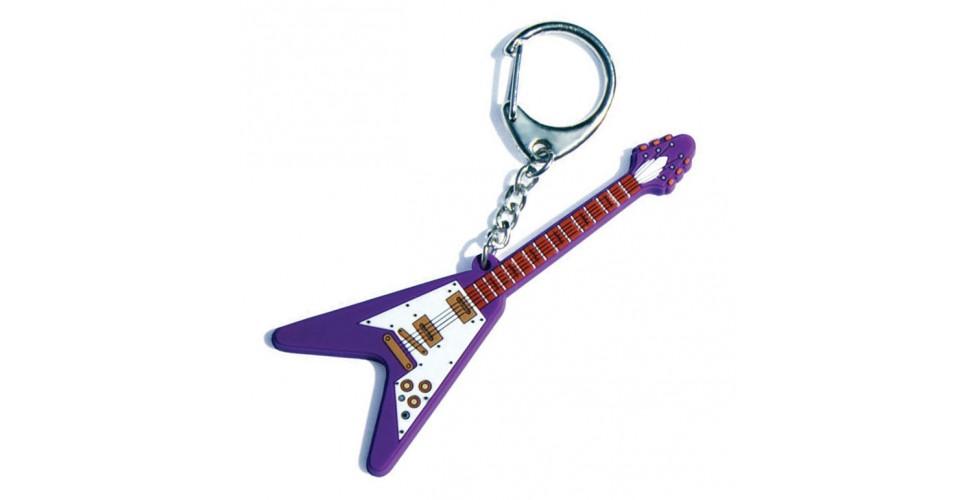 PVC Key Ring Electric V Guitar
