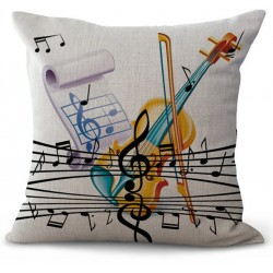Violin & Music Notes Music Pillow