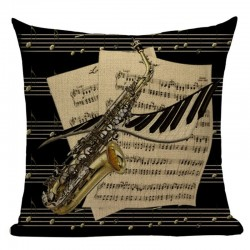 Saxophone Music Pillow