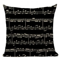 SHEET MUSIC Pillow Black