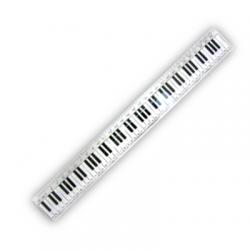 30cm Keyboard Design Clear Ruler