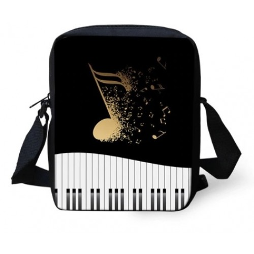 Mini Crossbody Bag Music Note/Piano Keyboard