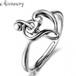 Moonmory Silver Treble Clef Ring