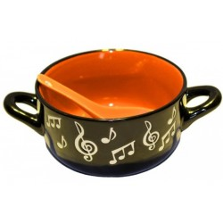 Music Note Bowl With Spoon