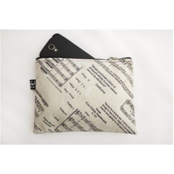 Music Zipper Pouch Large