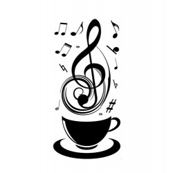 Music Cup Wall Stickers DIY