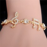 Music Notes Bracelet Gold Color