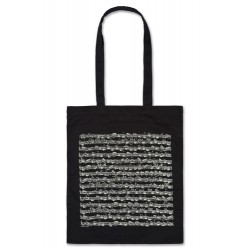 Tote bag SHEET Music black long Vienna World